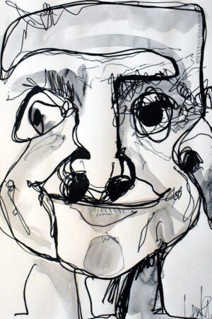 Lisa Klok - Nydelige Niels - Original tegning