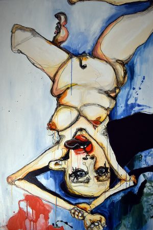 Nydelige Nete - Originalt maleri af Lisa Klok - Akryl på lærred