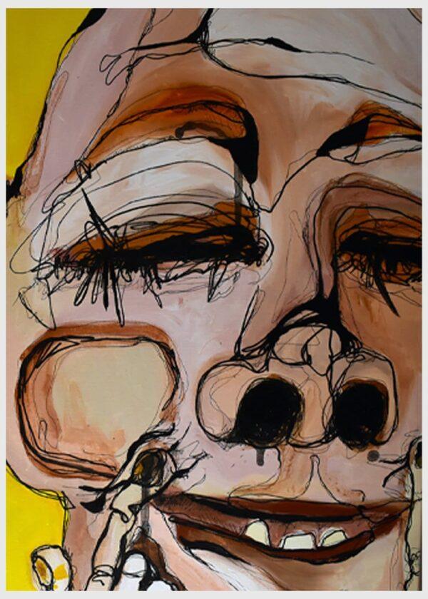 Verner - Originalt maleri af Lisa Klok - Akryl på lærred