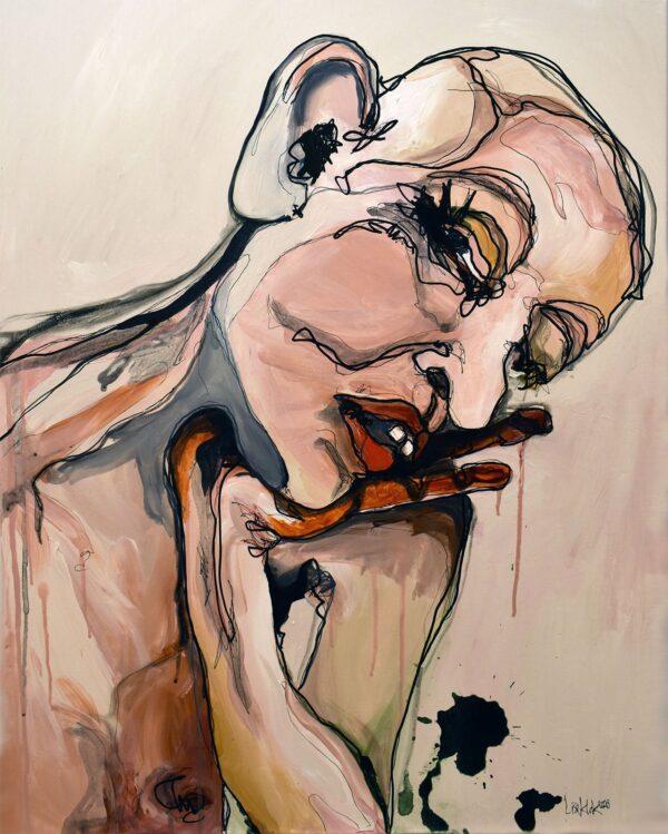 Lisa Klok - Eddie - Originalt maleri