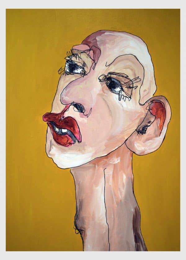 Lisa Klok - Daisy - Originalt maleri