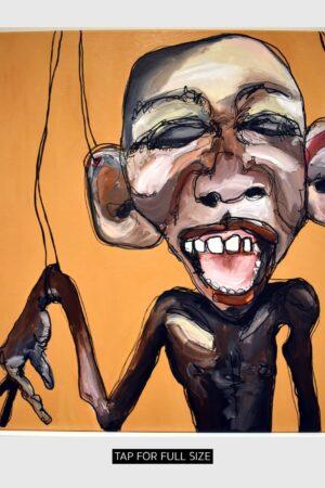 Lisa Klok - Marionet-John - Originalt maleri