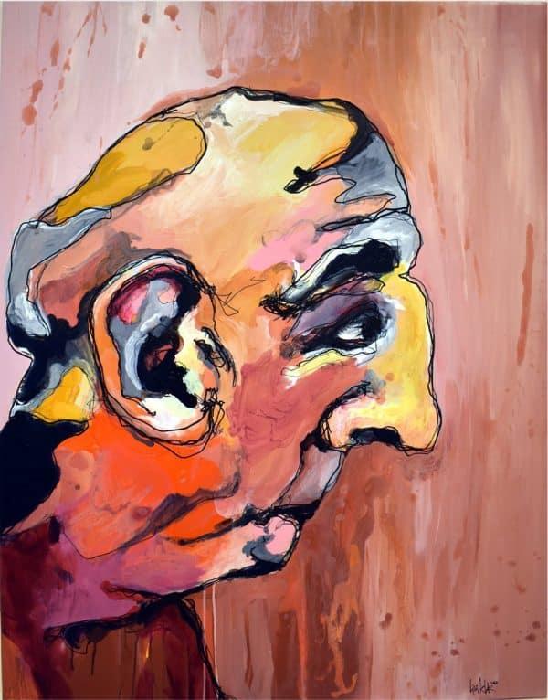 Lisa Klok - Vagn - Originalt maleri