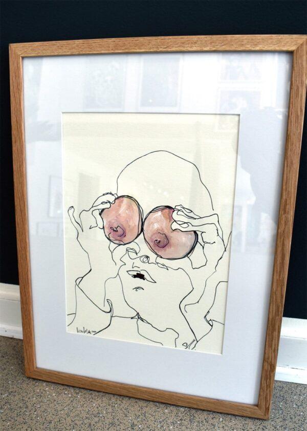 Lisa Klok - Boobie - Original tegning