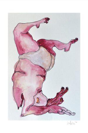 Lisa Klok - Gymnastikpigen #2 - Kunsttryk
