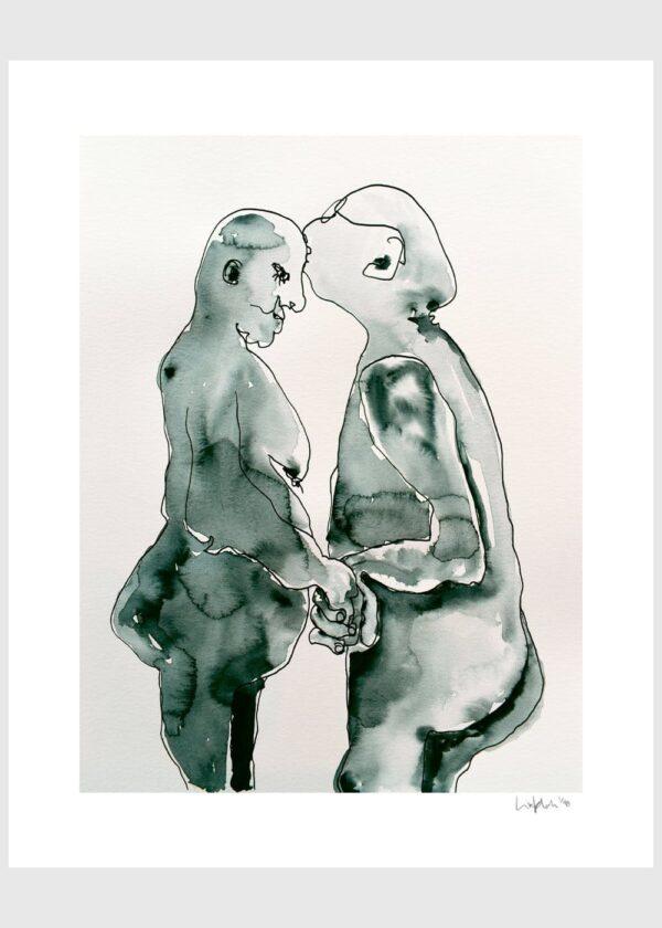 Lisa Klok - Lovebirds #2 - Kunsttryk