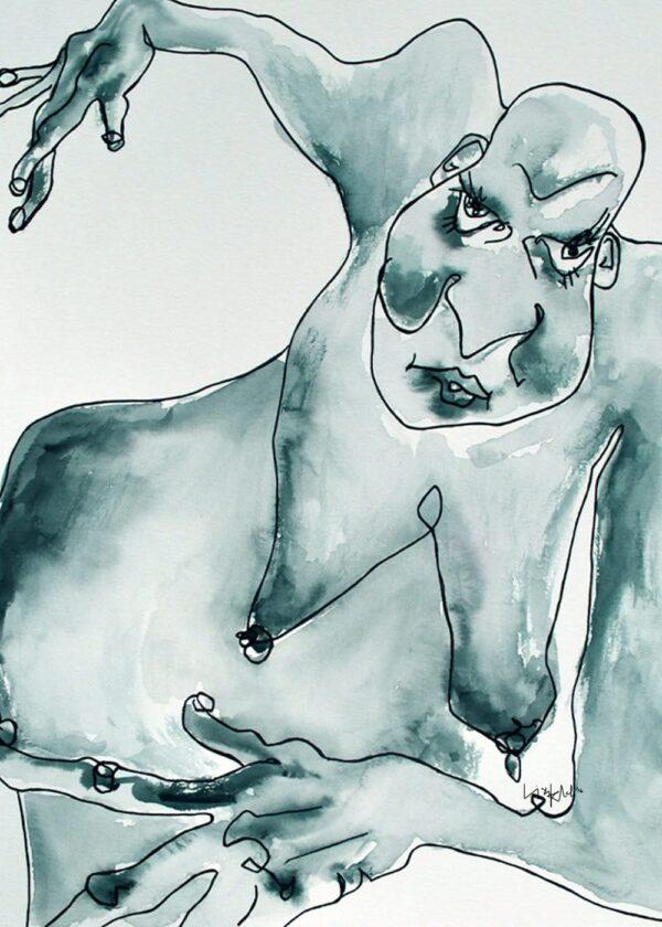 Lisa Klok - Frække Olga - Kunsttryk