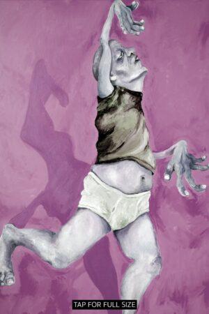 Lisa Klok - Finn det fredag - lilla - Kunsttryk