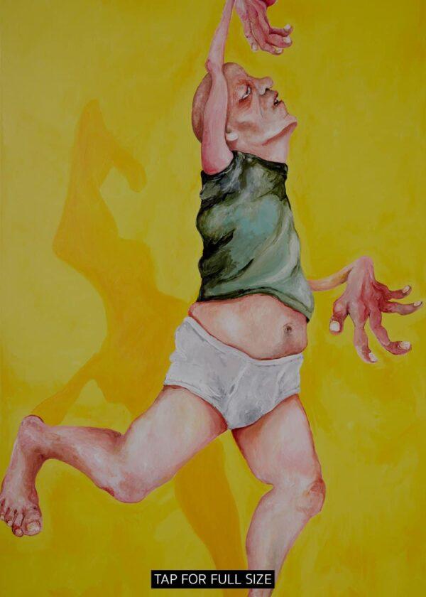 Lisa Klok - Finn det fredag - gul - Kunsttryk