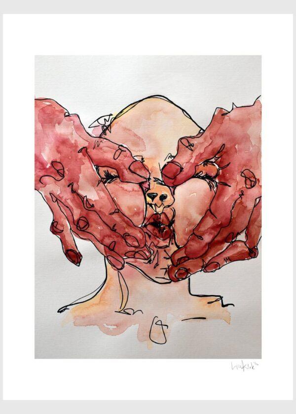 Lisa Klok - Kærtegn - Kunsttryk
